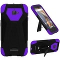 Insten Hard PC/ Silicone Dual Layer Hybrid Case Cover with Stand For Coolpad Catalyst - Thumbnail 2