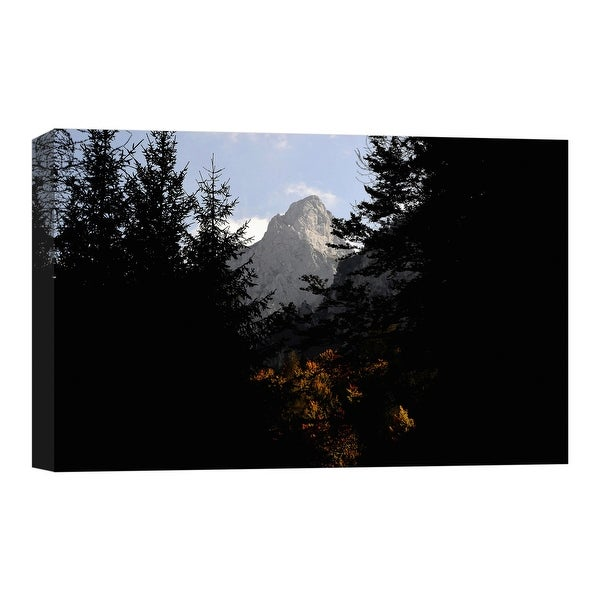 "PTM Images 9-124854 PTM Canvas Collection 8"" x 10"" - ""Mountain View"" Giclee Trees Art Print on Canvas"