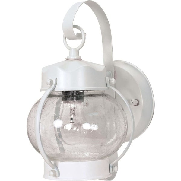 """Nuvo Lighting 60/630 1-Light 10-5/8"""" Tall Outdoor Wall Sconce with Seedy Glass Shade - White - n/a"""