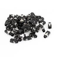 Unique Bargains MP3 Earphone Headset 4 Pin PCB Mounting 3.5mm Jack Socket Spart Part 52 Pcs
