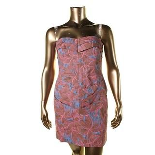 Rachel Rachel Roy Womens Linen Blend Printed Casual Dress - 14