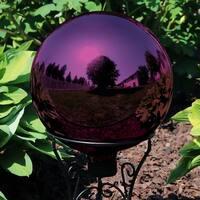 Sunnydaze Merlot Mirrored Surface Outdoor Garden Gazing Ball Globe - 10-Inch