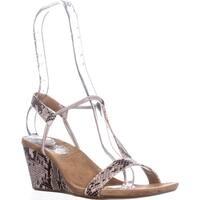 SC35 Mulan T-Strap Wedge Sandals, Linen