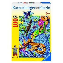"Ravensburger Creepies 100 Pieces Puzzle - Blue - 19.25"" x 14.25"""