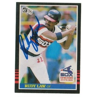Rudy Law Chicago White Sox Autographed 1985 Donruss Card
