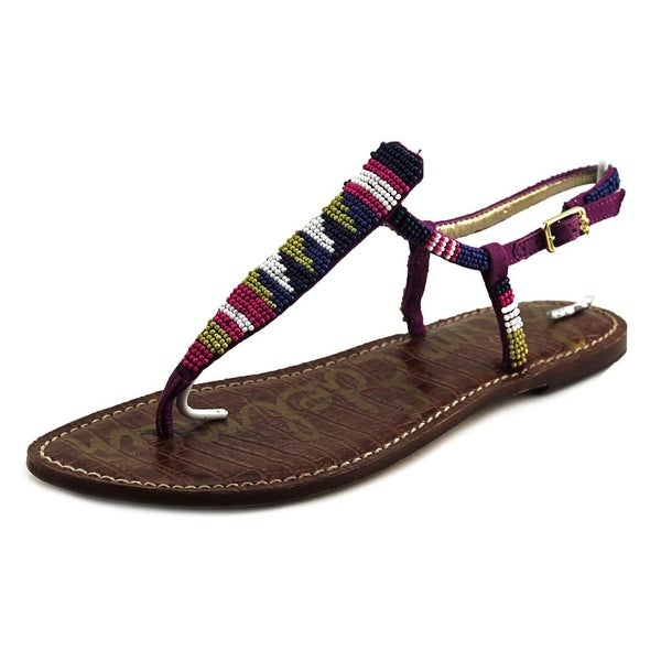 66543f765609 Shop Sam Edelman Gail Women Blue Bead Sandals - Free Shipping On ...