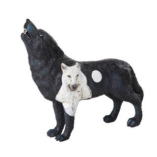The Wolf Spirit Collection Dark Moonlit Night Black Wolf Spirit Collectible Figurine