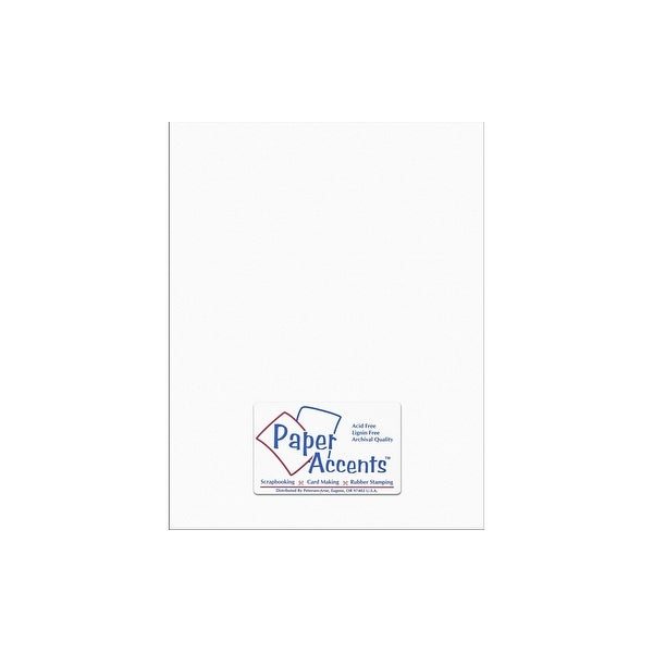 Cdstk Stash Builder 8.5x11 65lb Textrd Snow White
