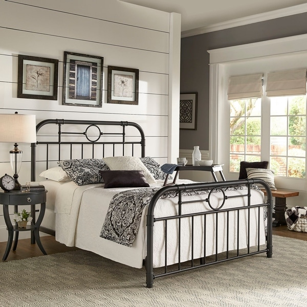 Kendal Black Metal Bed by iNSPIRE Q Classic. Opens flyout.
