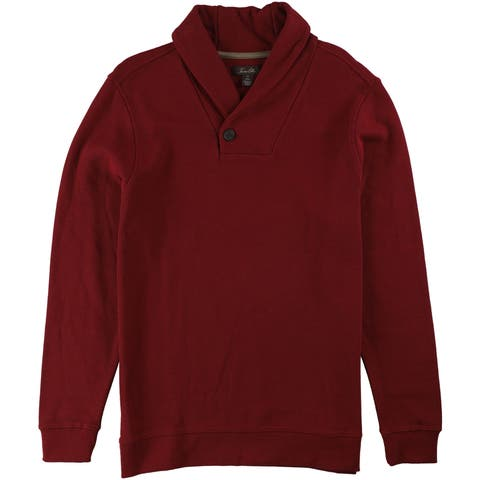 Tasso Elba Mens Textured Shawl-Collar Pullover Sweater
