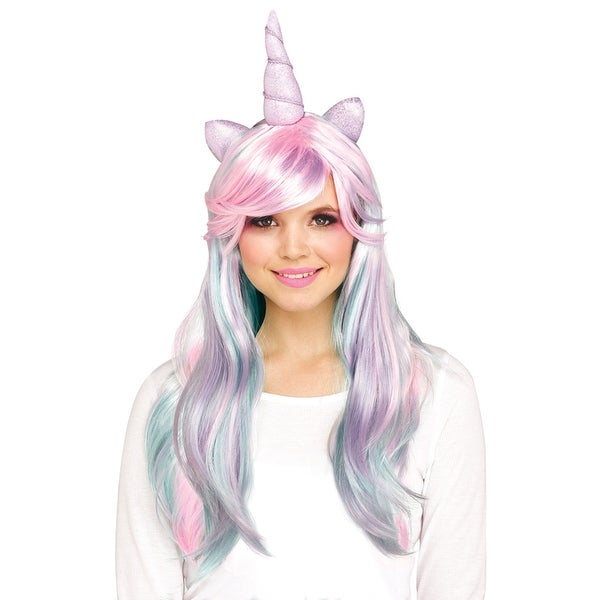 ed2fb4cee051 Shop Adult Pastel Unicorn Horn Costume Wig - Standard - One Size - Free  Shipping On Orders Over $45 - Overstock - 24015432