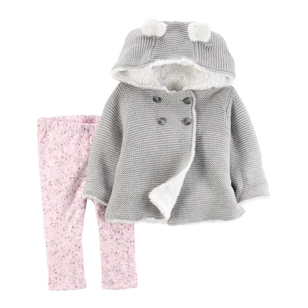 11c0c12c8f35 Shop Carter s Baby Girls  2 Piece Faux Sherpa Jacket and Pants Set ...