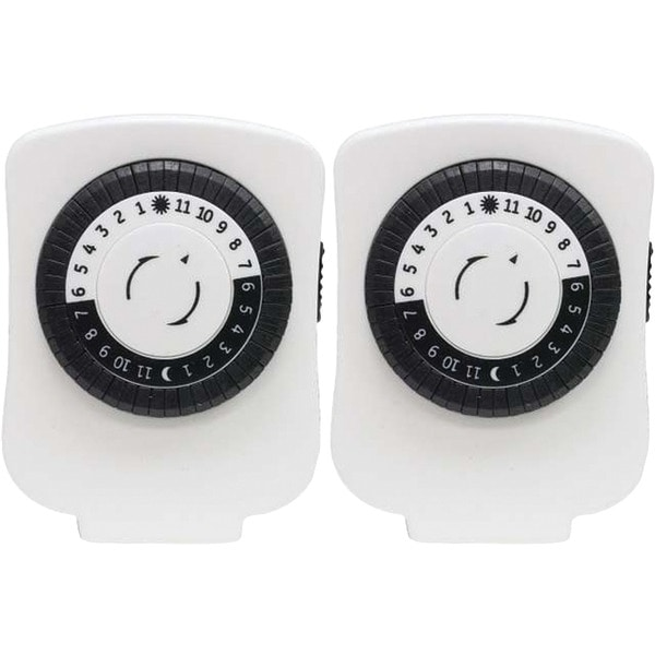 Ge 15417 24-Hour Polarized Plug-In Mechanical Timer With 48 On/Off & 1 Outlet, 2 Pk