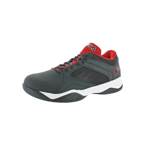 Fila Mens Bank Basketball Shoes Leather Lightweight