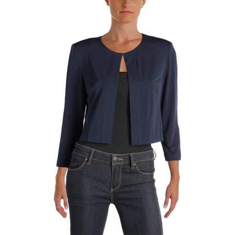 Jessica Howard Womens Cardigan Top Matte Jersey Open Front