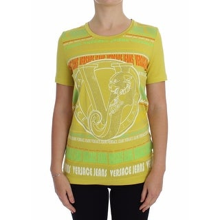 Versace Jeans Versace Jeans Yellow Crewneck Studded T-shirt - 42-s