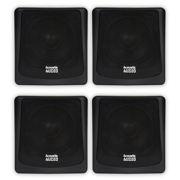 Acoustic Audio AA051B Mountable Indoor / Outdoor Speakers 2 Pair Pack AA051B-2PR