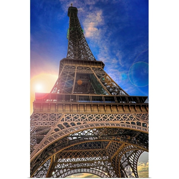 """""""Picture took under the Eiffel Tower at sunset."""" Poster Print"""