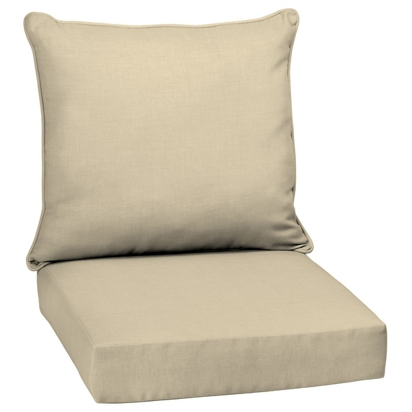 Arden Selections Tan Outdoor Deep Seat Cushion Set - 24 W x 24 D in.. Opens flyout.