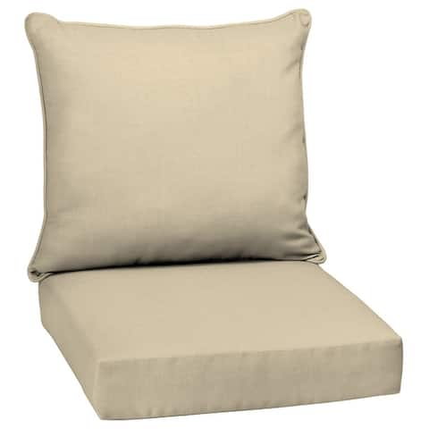 """Arden Selections Tan Outdoor Deep Seat Cushion Set - 24"""" L x 24"""" W x 5.75"""" H"""