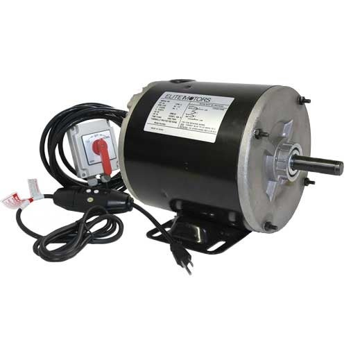 Elite .75 HP Painted Boat Lift Motor w/ Spring Switch & 110 V GFCI