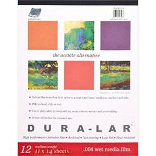 """Duralar Clear .004 Wet Media Pad 12 Sheets-11""""X14"""""""