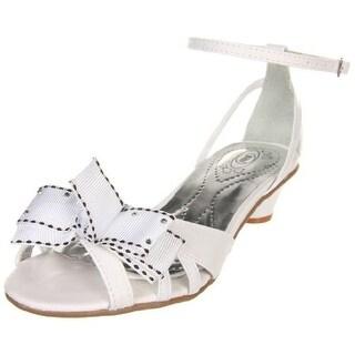 Bibi Girls Passarelle IV Leather Strappy Peep-Toe Heels