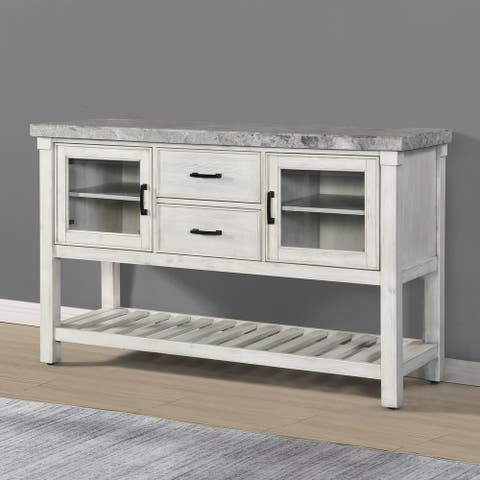 The Gray Barn Cardella Marble Top Server