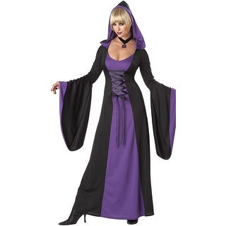 Purple Hooded Robe Costume, Witch Costume