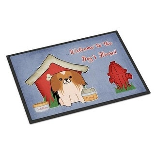 Carolines Treasures BB2857MAT Dog House Collection Pekingnese Red White Indoor or Outdoor Mat 18 x 0.25 x 27 in.