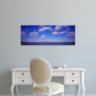 Easy Art Prints Panoramic Images's 'City at the waterfront, Boston, Massachusetts, USA' Premium Canvas Art