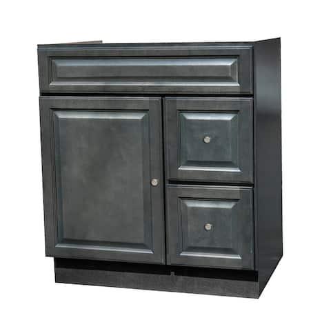 30x21 Raised Panel Slate Gray Bathroom Vanity
