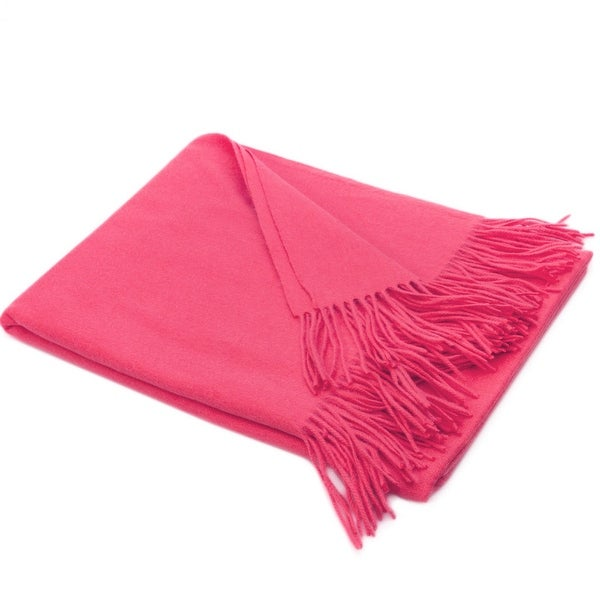 STP-Goods Coral Cay Cashmere & Wool Throw Blanket. Opens flyout.