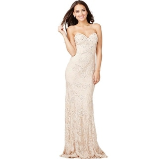 JVN by Jovani Womens Lace Embellished Formal Dress