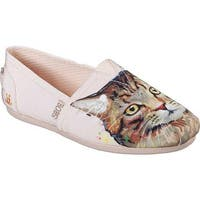 Skechers Women's BOBS Plush Cats Rule Alpargata Light Pink