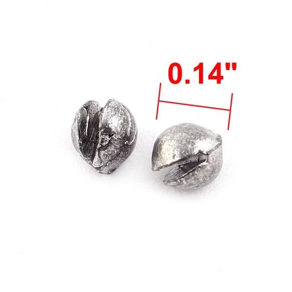 Oval Shaped Lead Split Shots Trolling Fishing Sinkers Gray 7 x 5mm 50 Pcs