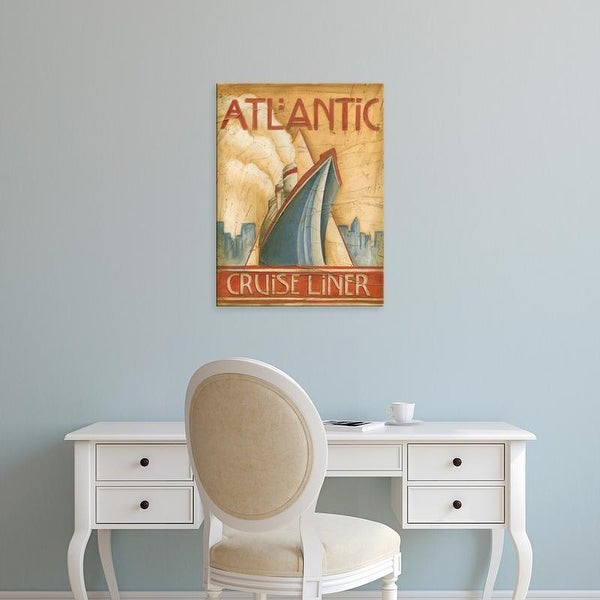 Easy Art Prints Ethan Harper's 'Atlantic Cruise Liner' Premium Canvas Art