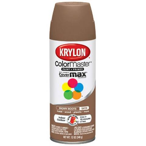 Krylon K05356202 ColorMaster Paint & Primer, 12 Oz, Brown Boots