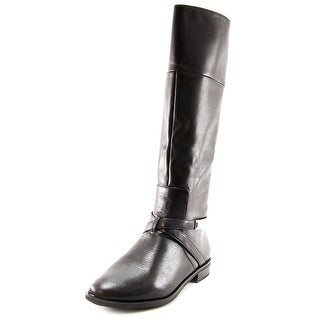 Alfani Egila Women Round Toe Leather Black Knee High Boot