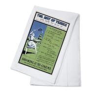 The Art of Tennis England - Vintage Advertisement (100% Cotton Towel Absorbent)