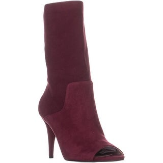 MICHAEL Michael Kors Elaine Open Toe Boots, Mulberry - 7 us / 37 eu