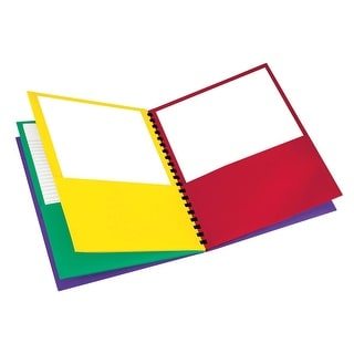 Oxford School Smart Elegant Stripe Portfolio with 8 Colored Pockets, 200, 8-1/2 X 11 Inches, Assorted Colors