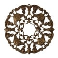 Vintaj Natural Brass Ornate Wreath Filigree Stamping Pendant 48.5mm (1) - Thumbnail 0