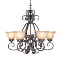 Craftmade 22026 Sheridan Single Tier 6 Light Chandelier - 29 Inches Wide