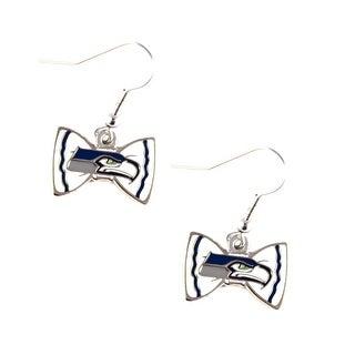 Seattle Seahawks NFL Bow Tie Earring Dangle