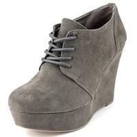 Material Girl Danity Women  Open Toe Synthetic Gray Wedge Heel