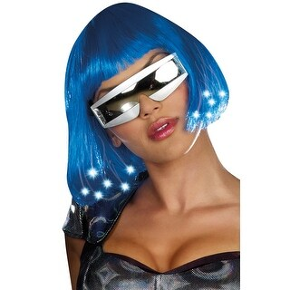 Dreamgirl Light Up Blue Costume Wig