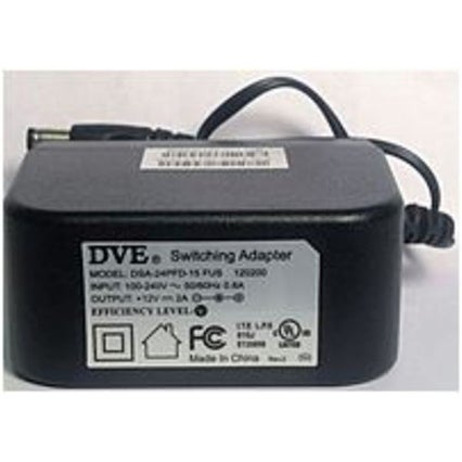 DVE DSA-24PFD-15 FUS Switching AC Adapter with US 2-Pin Plug - 5 (Refurbished)