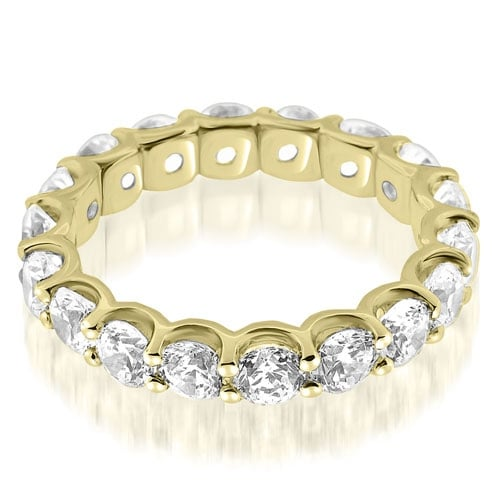 2.70 cttw. 14K Yellow Gold Classic U-Prong Round Diamond Eternity Band Ring