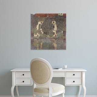 Easy Art Prints Gustav Klimt's 'House on the Lake' Premium Canvas Art